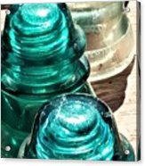 Glass Insulators Acrylic Print