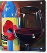 Glass Of Merlot   Acrylic Print