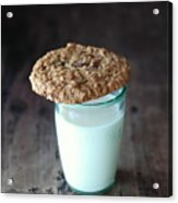 Glass Of Milk Acrylic Print by Shawna Lemay