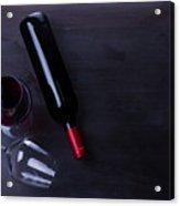 Red Wine Set Acrylic Print