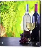 Enjoying Wine Acrylic Print