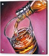 Glass of Wine Original oil painting Acrylic Print