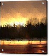 Glassy Dawn Acrylic Print