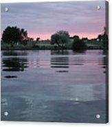 Glassy River Reflection Acrylic Print