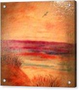 Glazed Affect Beach Scene Acrylic Print