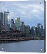Gleaming Cityscape. Vancouver At Dawn  Acrylic Print