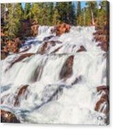 Glen Alpine Falls In Early Morning Light Acrylic Print