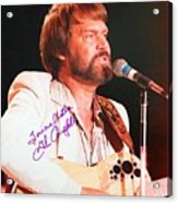Glen Campbell Autographed Poster Acrylic Print