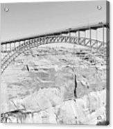 Glen Canyon Bridge Bw Acrylic Print