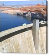 Glen Canyon Dam Acrylic Print by Will Borden