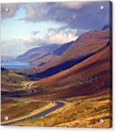 Glen Docharty And Loch Maree Acrylic Print