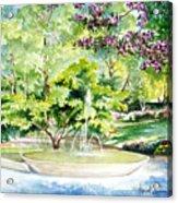 Glencairn Fountain Acrylic Print