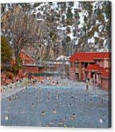 Glenwood Springs Hot Springs In Winter Acrylic Print