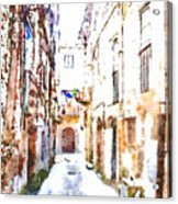 Glimpse Away With The Town Hall Acrylic Print