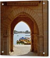 Glimpse Of Gadisar Lake Acrylic Print
