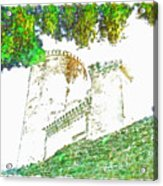 Glimpse Of The Castle Walls And Towers Acrylic Print