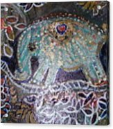Glitter Girl Elephant Walking In My Dream  Acrylic Print