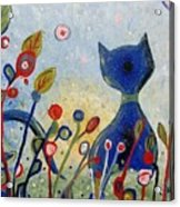 Glitter Kitty Acrylic Print