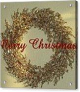 Glittery Wreath Acrylic Print