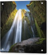 Gljufrabui Iceland Waterfall Acrylic Print