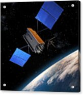 Global Positioning System Satellite In Orbit Acrylic Print