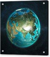 Globe Physical Asia Acrylic Print