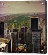 Gloomy Central Park Acrylic Print