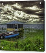Gloomy Day By The Lake Acrylic Print