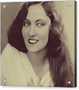 Gloria Swanson, Vintage Actress Acrylic Print