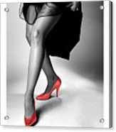 Glorious Gams - Red Shoes Acrylic Print
