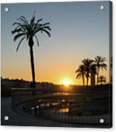Glorious Sevillian Sunset With Palms Acrylic Print