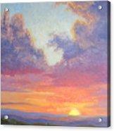 Glory Of The Western Sky Acrylic Print