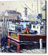 Gloucester Harbor And The Birdseye Tower Acrylic Print