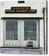 Gloucester Marine Railways Massachusetts Acrylic Print