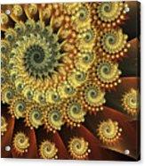 Glowing Amber Acrylic Print