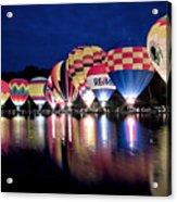 Glowing Balloons Acrylic Print