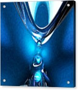 Glowing Blue Abstract Acrylic Print