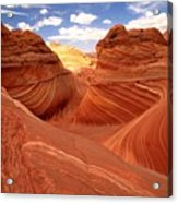 Glowing Butte At The Wave Acrylic Print