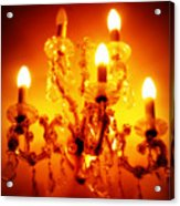 Glowing Chandelier Acrylic Print