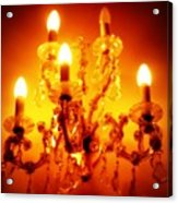 Glowing Chandelier--companion Piece Acrylic Print