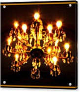 Glowing Chandelier With Border Acrylic Print