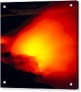 Glowing Lava Flow Acrylic Print