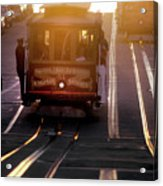 Glowing Magical Cable Cars On Nob Hill Acrylic Print