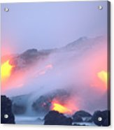 Glowing Orange Lava Acrylic Print