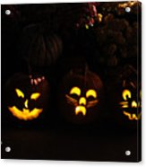 Glowing Pumpkins Acrylic Print