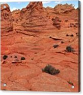 Glowing Sand In The Buttes Acrylic Print