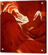 Glowing Sandstone Ledges Acrylic Print