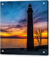 Glowing Sky At Little Sable Acrylic Print