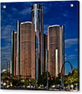 Gm And Marriot Monster In Detroit Acrylic Print