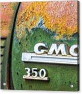 Gmc 350 Tag Acrylic Print